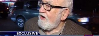 Classy: Ed Asner asks Fox News producer if he can urinate on him