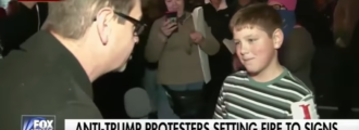 Young protester brags about setting fire at anti-Trump protest: 'Screw our president' — Video