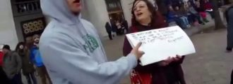 Liberal Pro-Abortion Lunatic Melts Down outside Trump Inauguration Ceremony — Video