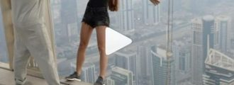 Russian hottie in hot water with Dubai police for daredevil stunt