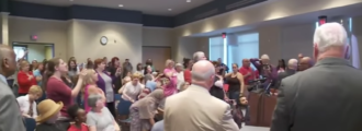 Liberal hatemongers freak out, yell 'Lucifer' when GOP town hall opens in prayer — Videos