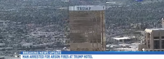 Fires intentionally set at Trump International, one in custody
