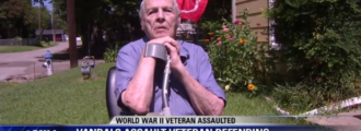 Blind WWII veteran assaulted by flag vandals in Texas