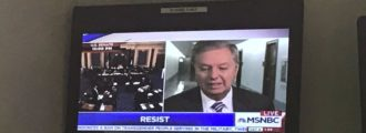 MSNBC chyron tells viewers to 'resist' Republicans