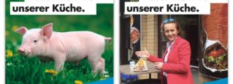 Germany: Too much sympathy for the pig, political party yanks Islam-pig poster