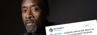 Actor Don Cheadle hammered on Twitter after mistaking American eagle pin for Nazi insignia