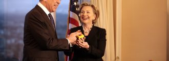 Hillary Clinton Hilariously Compares Herself to Paul Revere