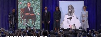 Michelle Obama's 'creepy' official portrait gets shredded on Twitter