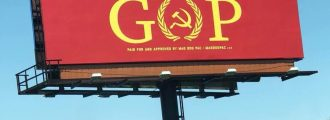 Leftist Billboard in Indiana Accuses GOP of Being Communists