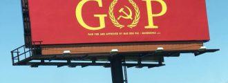 Leftist Billboard in Indiana Accuses GOP of Being Communists