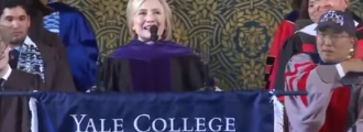 Video of the Day: Bitter Hillary whines about students not voting, dons Russian hat at Yale graduation speech