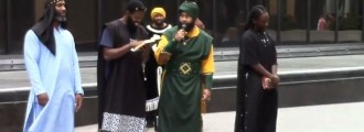 Black supremacist rally: All white people will be slaves -- video